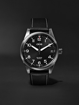 Oris Big Crown Pro Pilot Automatic 41mm Stainless Steel and Leather Watch - Men - Black