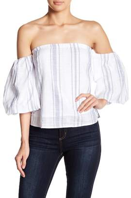 Romeo & Juliet Couture Striped Off-the-Shoulder Top