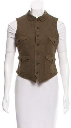 Ralph Lauren Leather-Accented Herringbone Vest