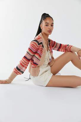 Urban Outfitters Scarlet Sheer Striped Cardigan