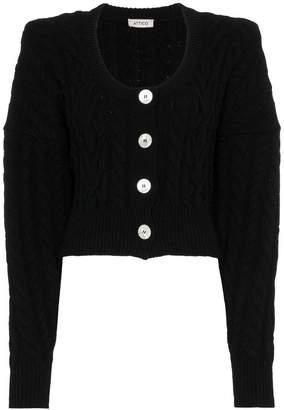 ATTICO Long Sleeve Wool Cardigan