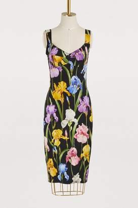 Dolce & Gabbana Iris printed silk dress
