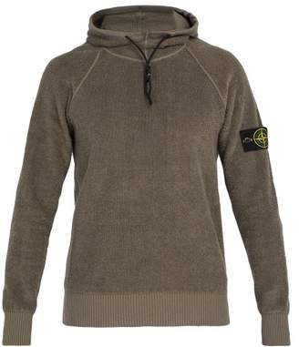 Stone Island High Neck Terry Towelling Sweatshirt - Mens - Khaki
