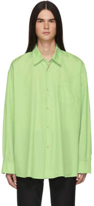 Our Legacy Green Borrowed Classic Shirt