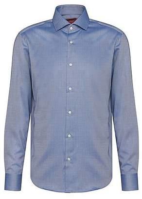 HUGO BOSS Regular-fit cotton shirt with herringbone pattern: 'C-Gordon'
