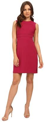 Donna Morgan Crepe Fit and Flare Dress with Faggoting Women's Dress