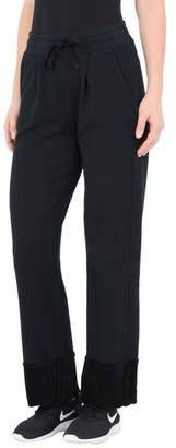 Deha CROPPED PANTS SOFT COTTON FLEECE AND VELOUR DETAILS Casual trouser