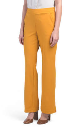 Knit Crepe Pull On Wide Leg Trousers