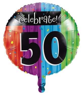Creative Converting Milestone Celebrations 50th Birthday Mylar Balloon