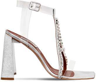 Area 105mm Pvc & Metallic Leather Sandals