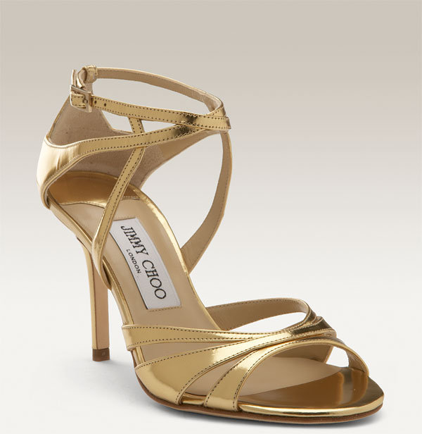 Jimmy Choo 'Freya' Metallic Leather Sandal