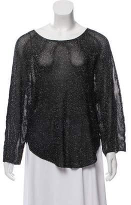 Zadig & Voltaire Metallic Long Sleeve Sweater