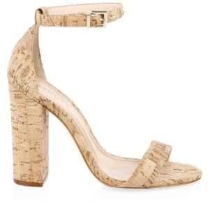 Schutz Enida Cork Ankle-Strap Heels