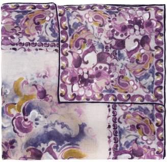 Loro Piana arabesque print scarf
