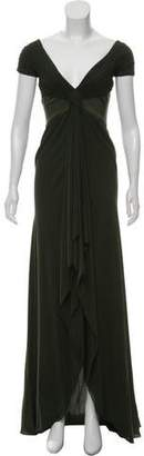 Valentino Ruched Chiffon Gown
