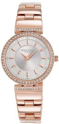 Anne Klein Women's Rose Gold Swarovski Crystal Watch, 30mm