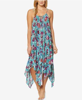 Jessica Simpson Handkerchief-Hem Cover-Up Dress Women's Swimsuit