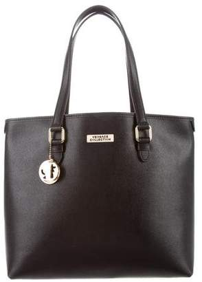 Versace Textured Leather Tote w/ Tags