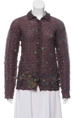 Issey Miyake Textured Button-Up Top