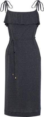 Vanessa Seward Fidji Ruffled Metallic Ribbed Cotton-blend Dress