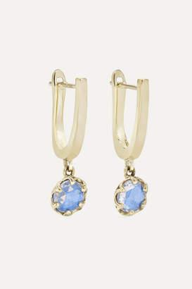Larkspur & Hawk Ivy 14-karat White Gold Diamond Earrings - Blue