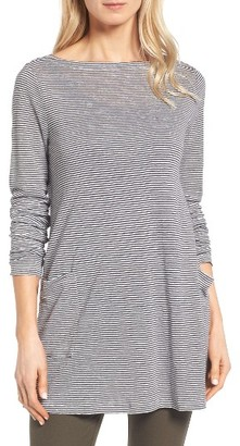 Women's Eileen Fisher Organic Linen Knit Tunic $168 thestylecure.com