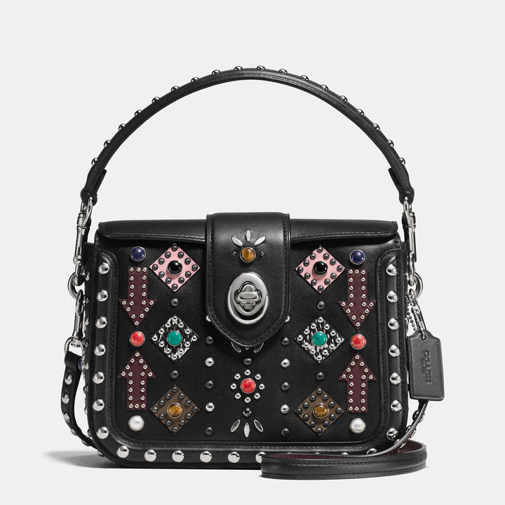 Coach  COACH Coach All Over Western Rivets Page Crossbody In Glovetanned Leather