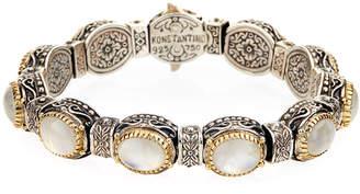 Konstantino Erato Oval Labradorite Doublet Link Bracelet
