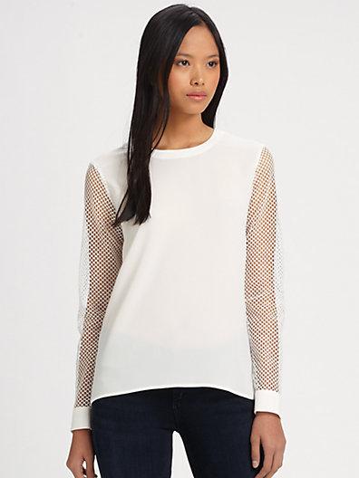 Tibi Alexa Crepe Sweatshirt