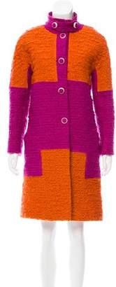 Bottega Veneta Colorblock Boucle Coat