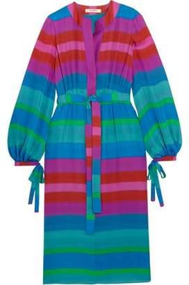 Etro Striped Silk Crepe De Chine Dress