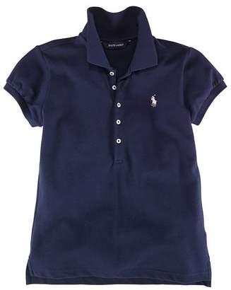 Ralph Lauren Girls' Mesh Knit Polo - Big Kid