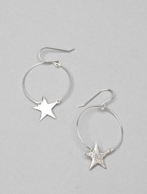 Gorjana Charm Hoop Small Star Earrings