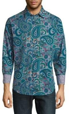 Robert Graham Paisley Cotton Button-Down Shirt