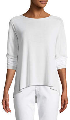 Eileen Fisher Sleek Seamless Jewel-Neck Top