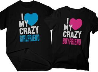ecb24259f Zexpa Apparel I Love My Crazy Boyfriend & Girlfriend   Matching Couple T- Shirts,