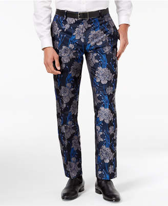 INC International Concepts I.N.C. Men's Slim-Fit Brocade Pants, Created for Macy's