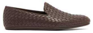 Bottega Veneta Intrecciato Leather Loafers - Mens - Brown