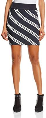BZR Women's Lith Body Con Striped Skirt,(Manufacturer Size:Small)
