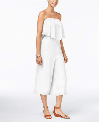 Thalia Sodi Strapless Wide-Leg Jumpsuit, Created for Macy's $99.50 thestylecure.com