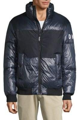 DKNY Contrast Puffer Jacket