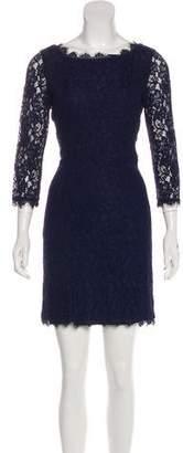 Diane von Furstenberg Lace Zip-Up Mini Dress