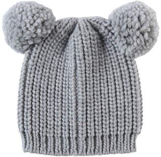 d85cd9db03855c Miss Shop Pom Pom Ears Beanie Summer Hats
