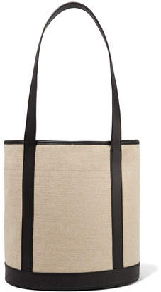 A.P.C. Margaux Leather-trimmed Canvas Tote - Beige