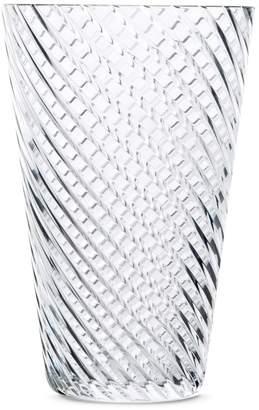 Saint-Louis Crystal Plurielle large diagonal cut vase