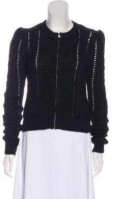 Isabel Marant Alpaca & Mohair-Blend Cable Knit Cardigan