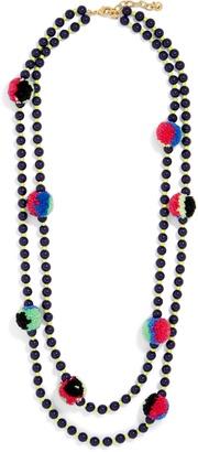 Guadeloupe Pom Pom Necklace $34 thestylecure.com