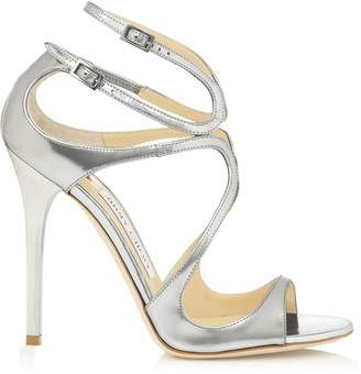 Jimmy Choo LANCE Silver Mirror Leather Sandals