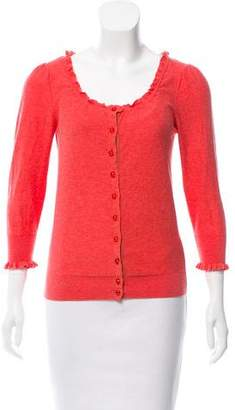 Marc by Marc Jacobs Lightweight Ruffle-Trimmed Cardigan