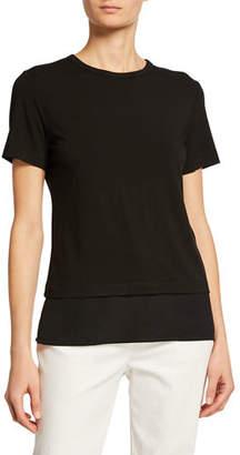 St. John Crewneck Soft Wash Jersey T-Shirt